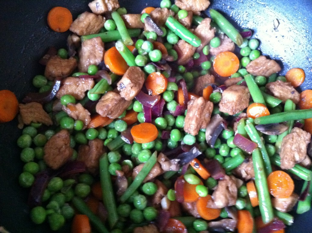 A colourful stirfry